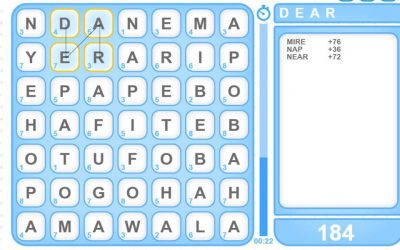Word Finder is the newest game in Socrates.